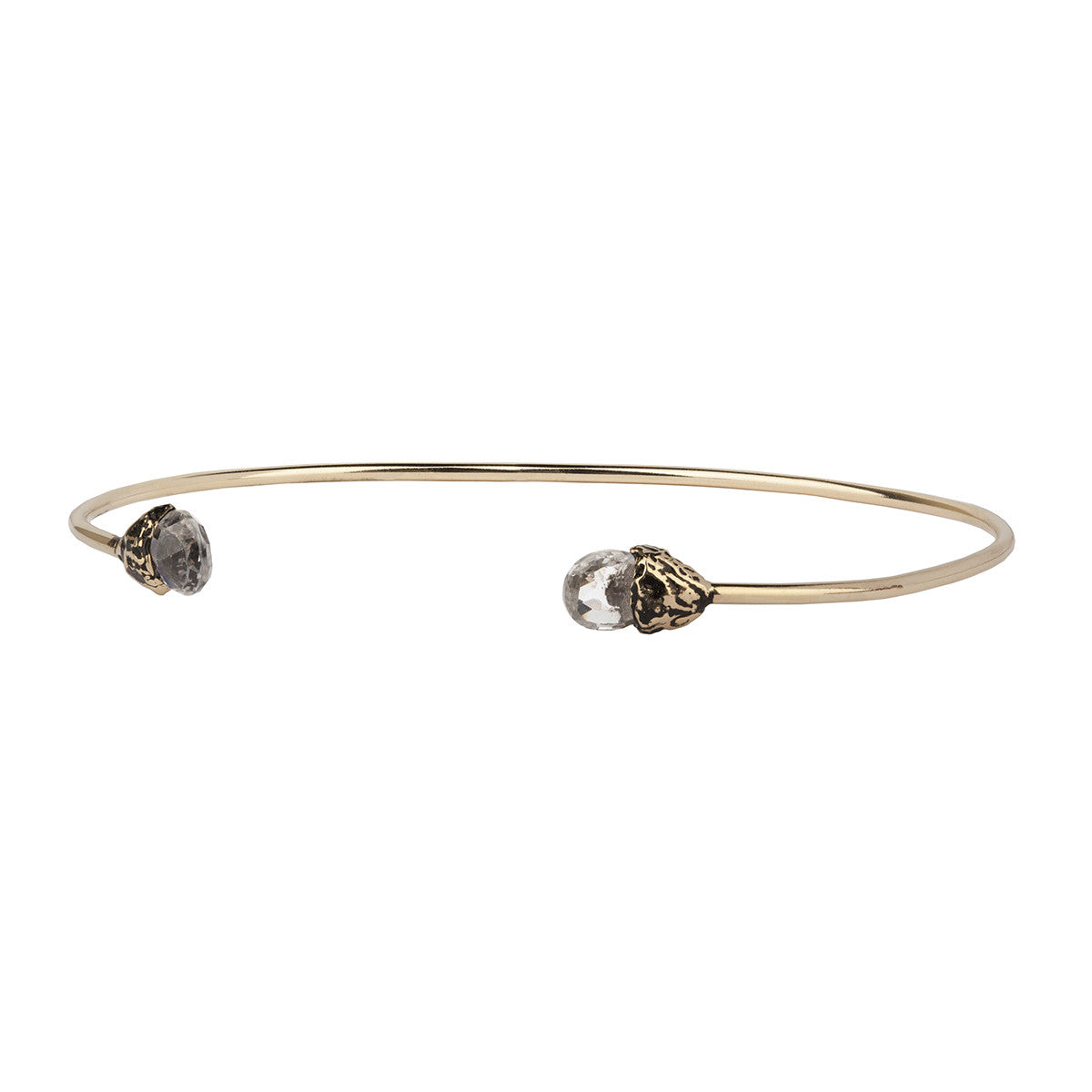Serenity 14K Gold Capped Attraction Charm Open Bangle