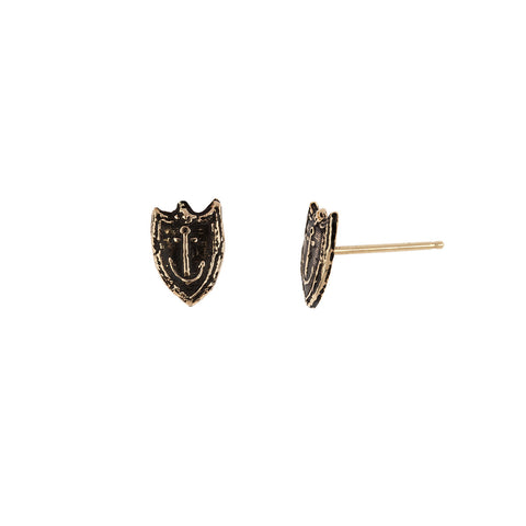 Unshakeable 14K Gold Talisman Stud Earrings