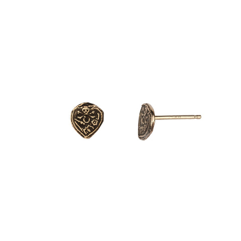 Vanity 14K Gold Talisman Stud Earrings