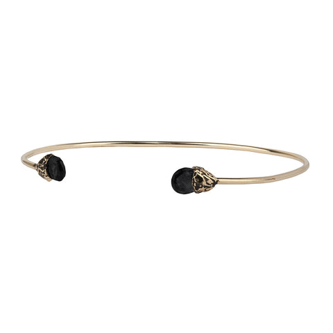 Vitality 14K Gold Capped Attraction Charm Open Bangle