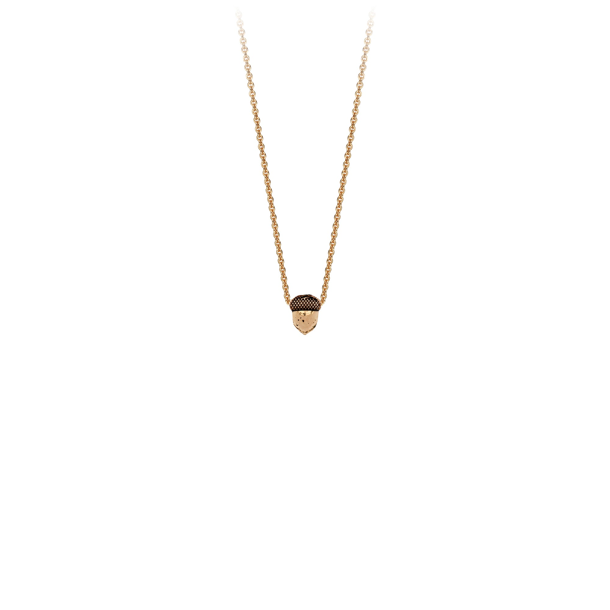 Pyrrha Acorn 14K Gold Symbol Charm Necklace