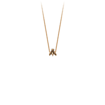 Pyrrha Bee 14K Gold Symbol Charm Necklace