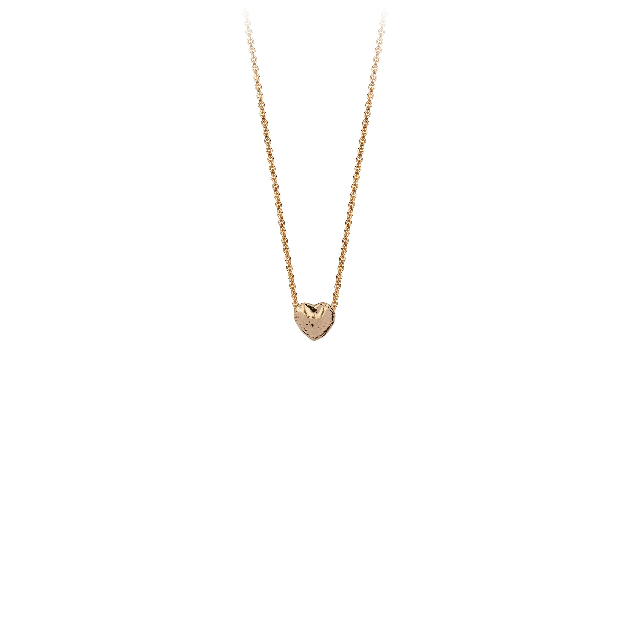 Pyrrha Heart 14K Gold Symbol Charm Necklace
