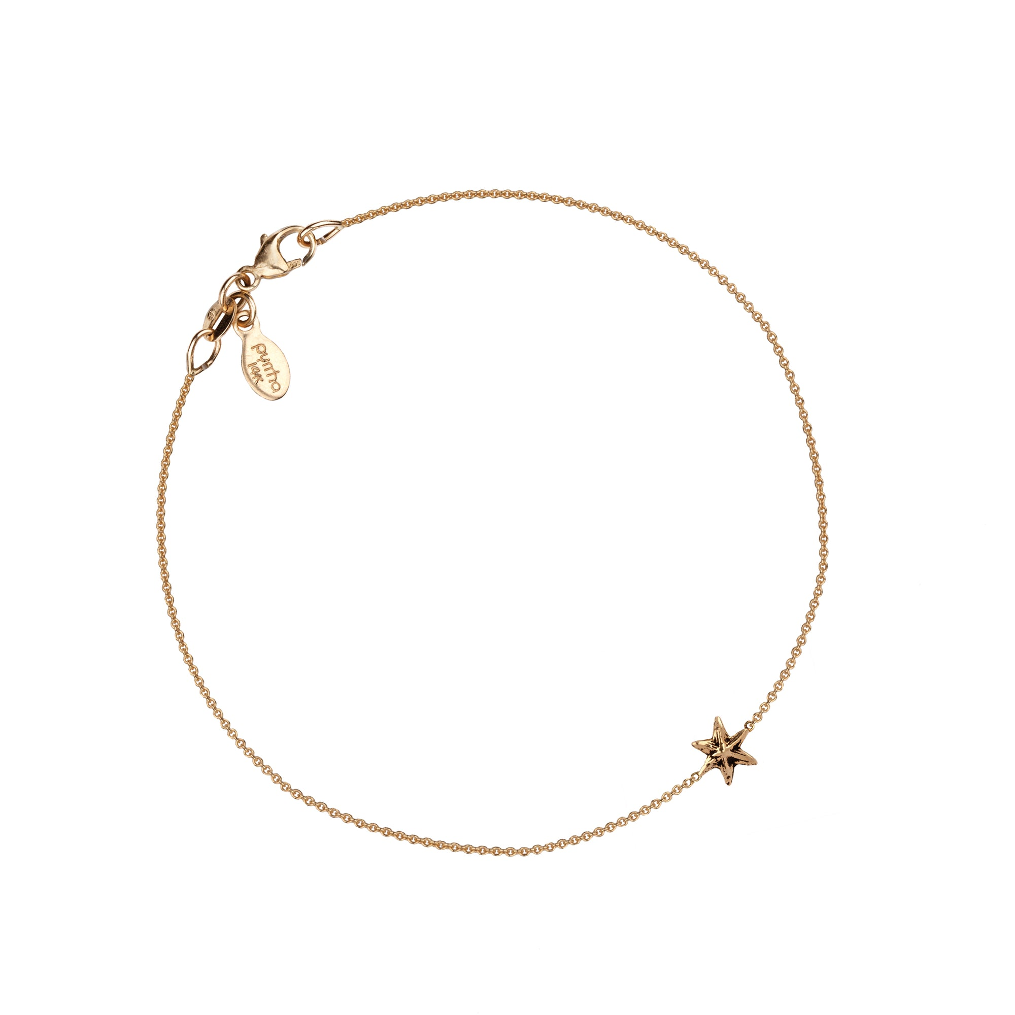 Star 14K Gold Symbol Chain Bracelet