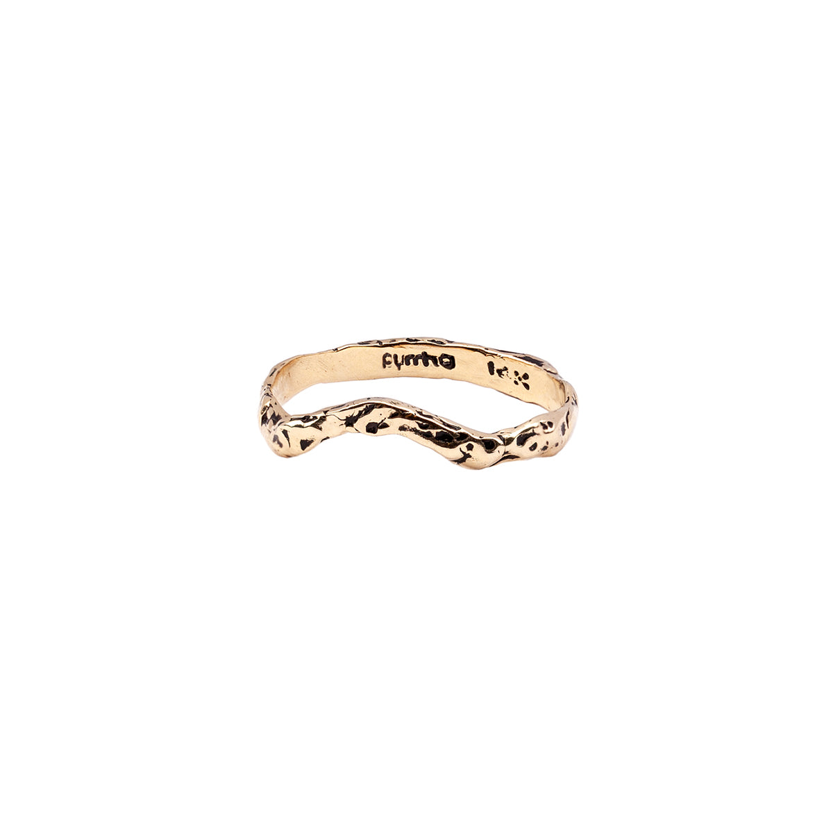 Solitaire 14K Gold Partner Ring