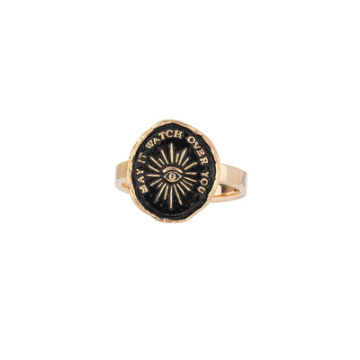 Higher Power 14K Gold Statement Ring