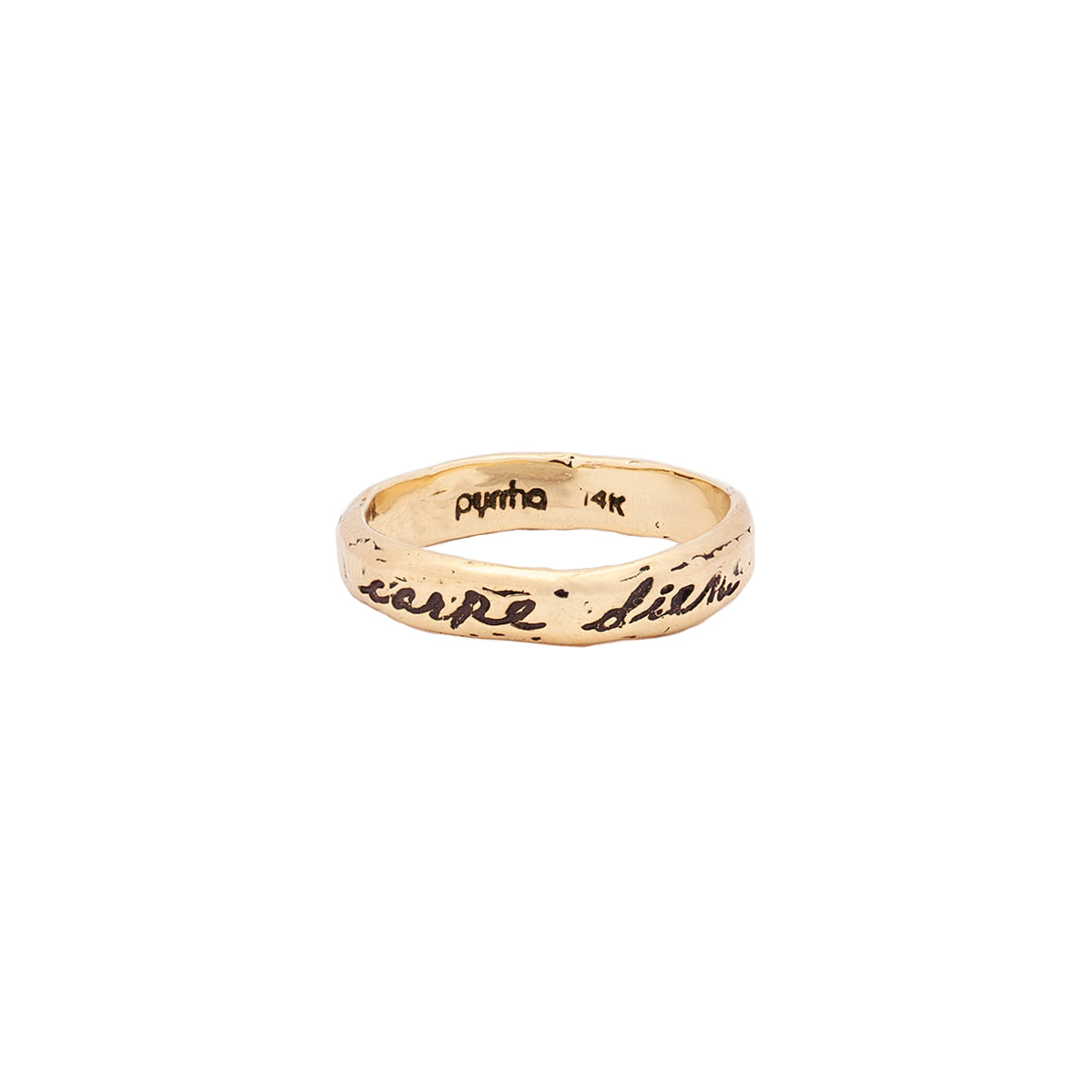 Seize The Day 14K Gold Poesy Ring