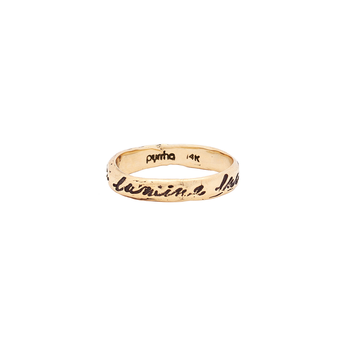 Shine In The Light 14K Gold Poesy Ring