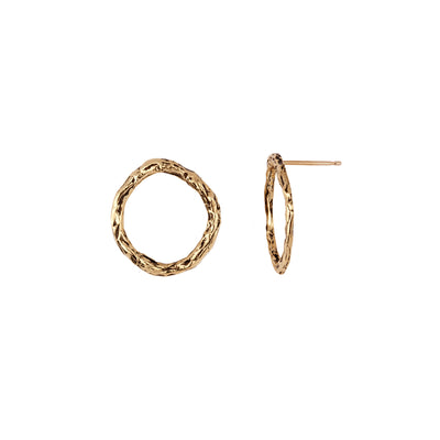 Small 14K Gold Open Circle Stud