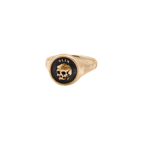 What Once Was 14K Gold Oval Signet Ring