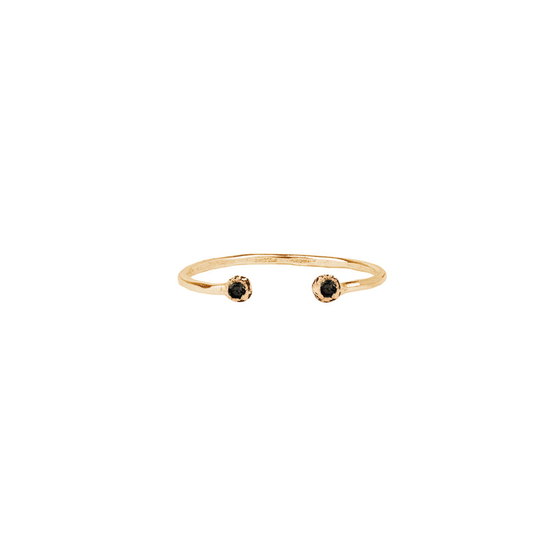 Stone Set 14K Gold Open Ring