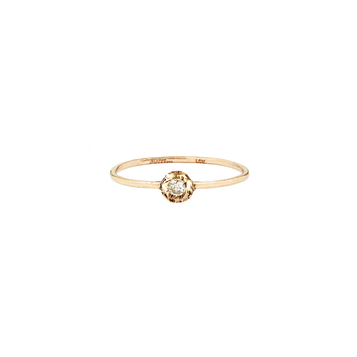 Diamond Set 14K Gold Ring