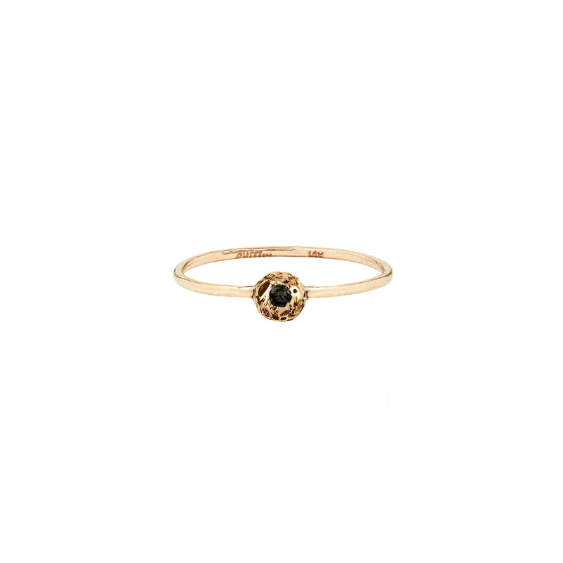 Stone Set 14K Gold Ring Extra Large Nugget