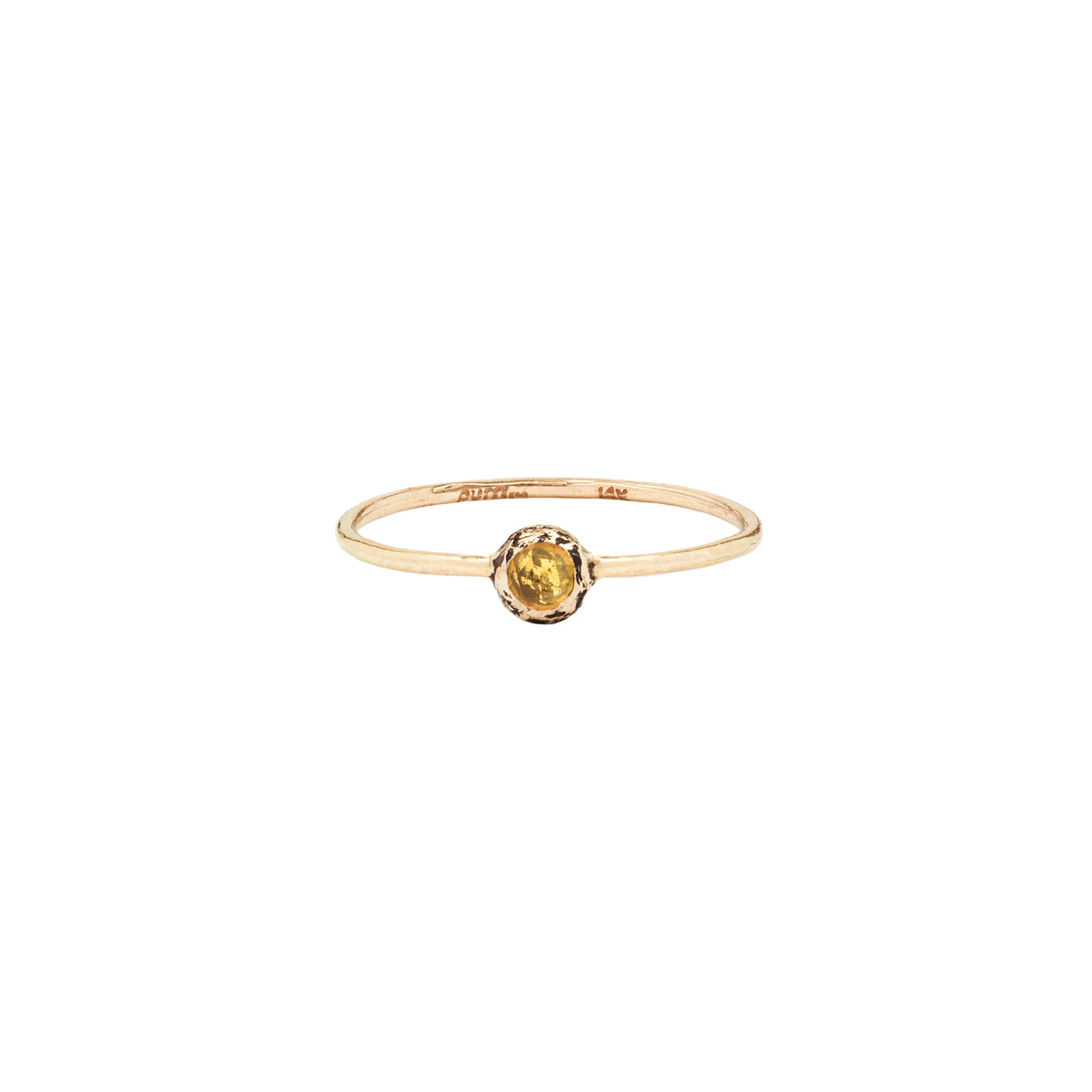 Yellow Montana Sapphire Stone Set 14K Gold Ring