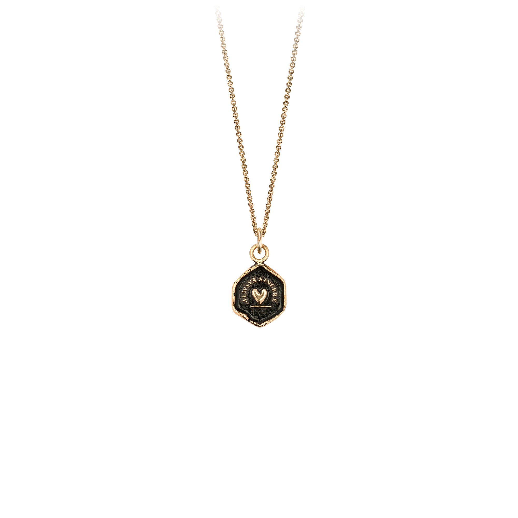 Pyrrha Always Sincere 14K Gold Talisman Necklace