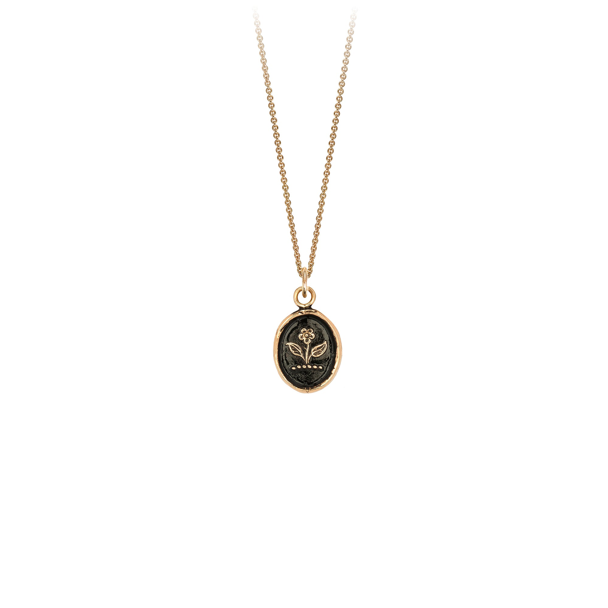 Pyrrha Beauty & Strength 14K Gold Talisman Necklace
