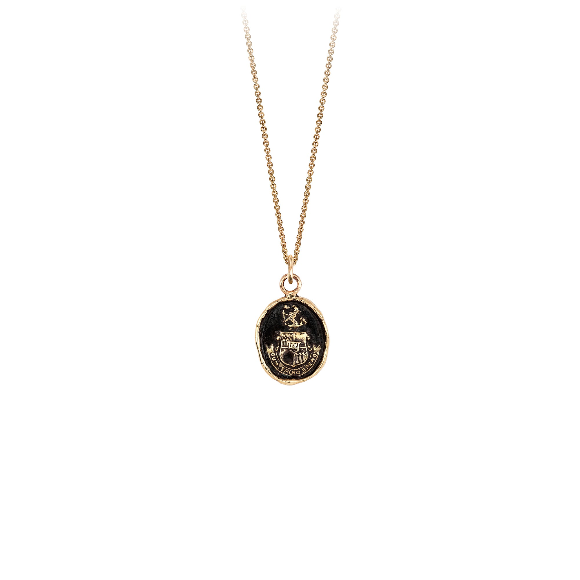 Pyrrha Courage to Hope 14K Gold Talisman Necklace