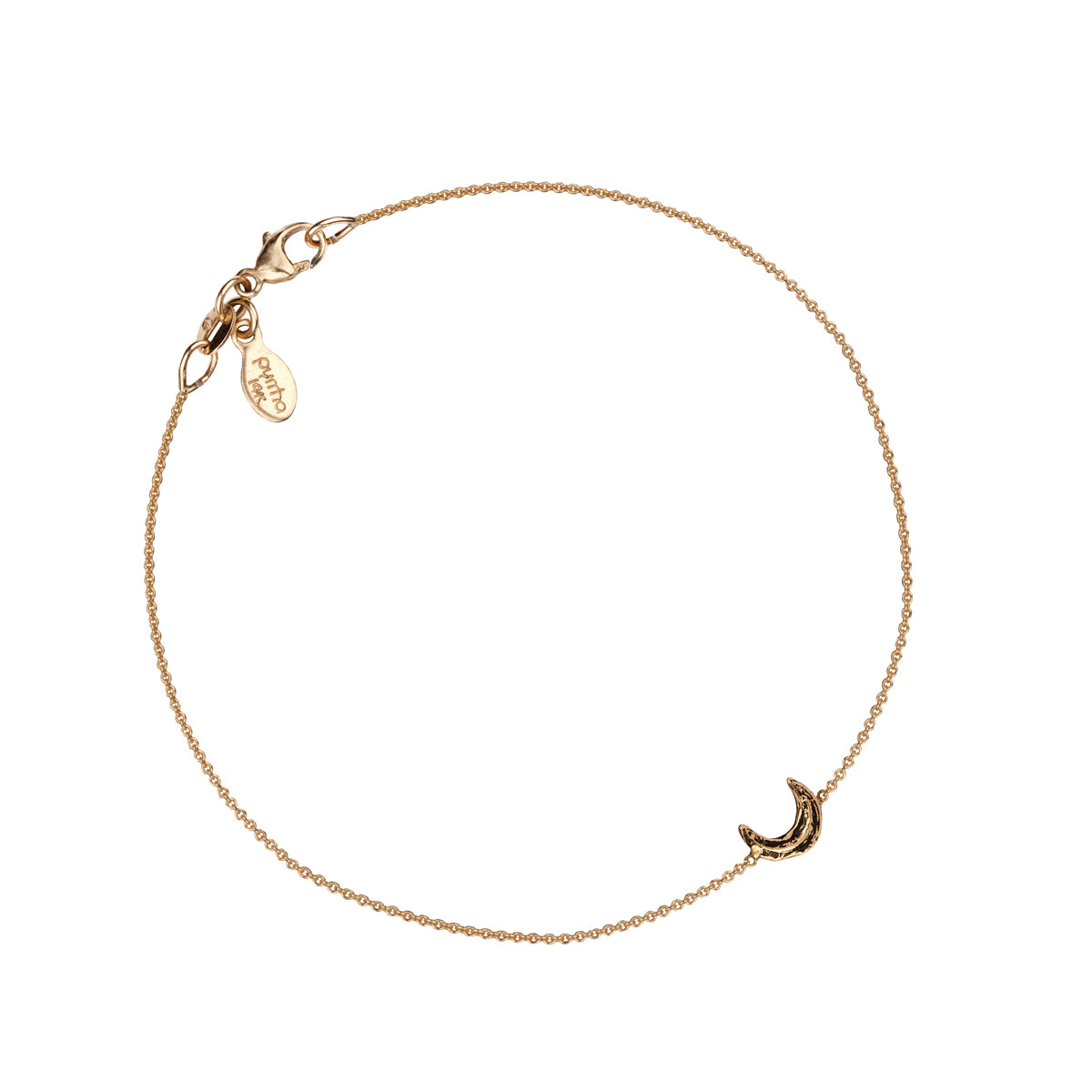 Crescent Moon 14K Gold Symbol Chain Bracelet