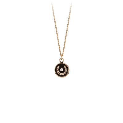 Pyrrha 14K Gold Horseshoe Talisman Necklace