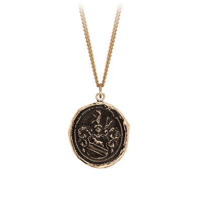 Pyrrha 14K Gold Heart of the Wolf Signature Talisman Necklace