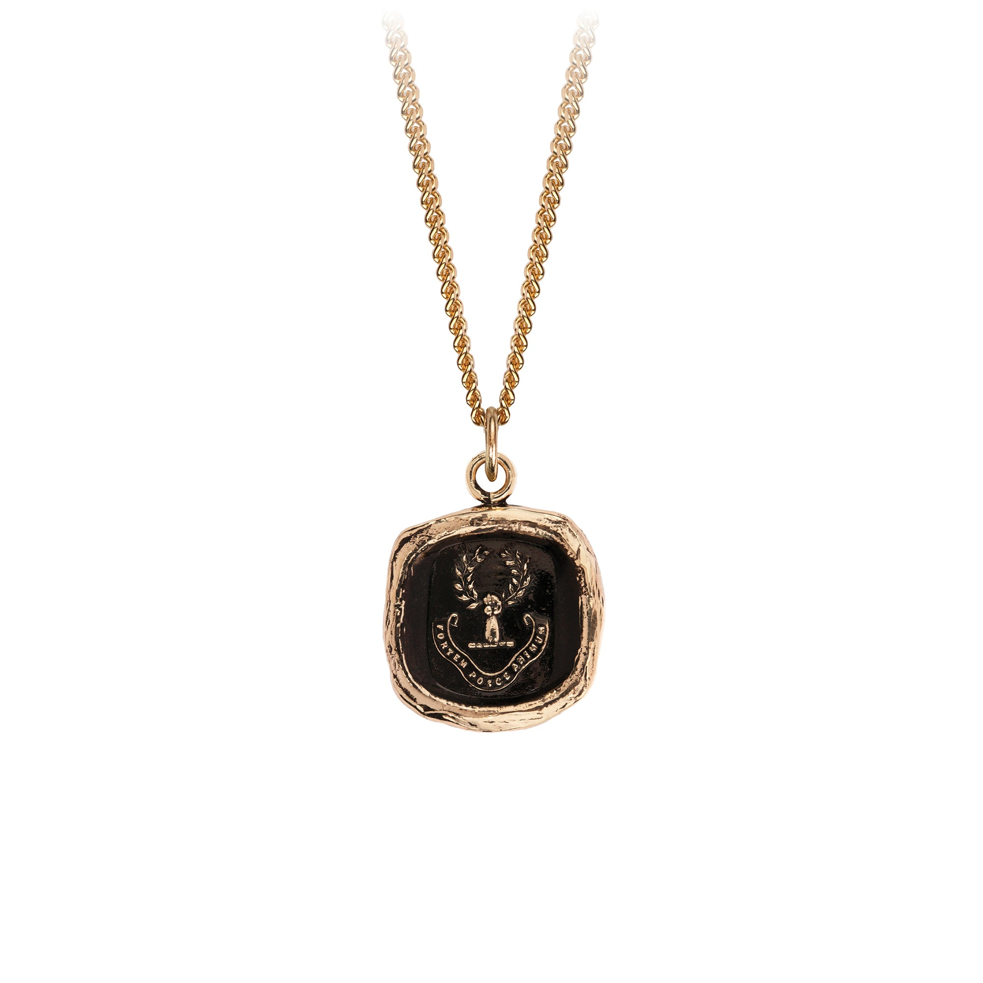 Pyrrha 14K Gold Inner Strength Signature Talisman Necklace