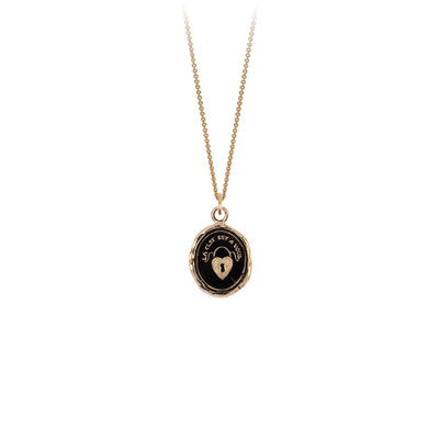 Heart Lock 14K Gold Talisman