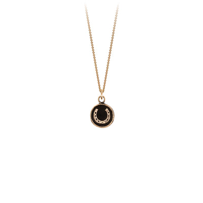 Pyrrha Horseshoe 14K Gold Talisman Necklace