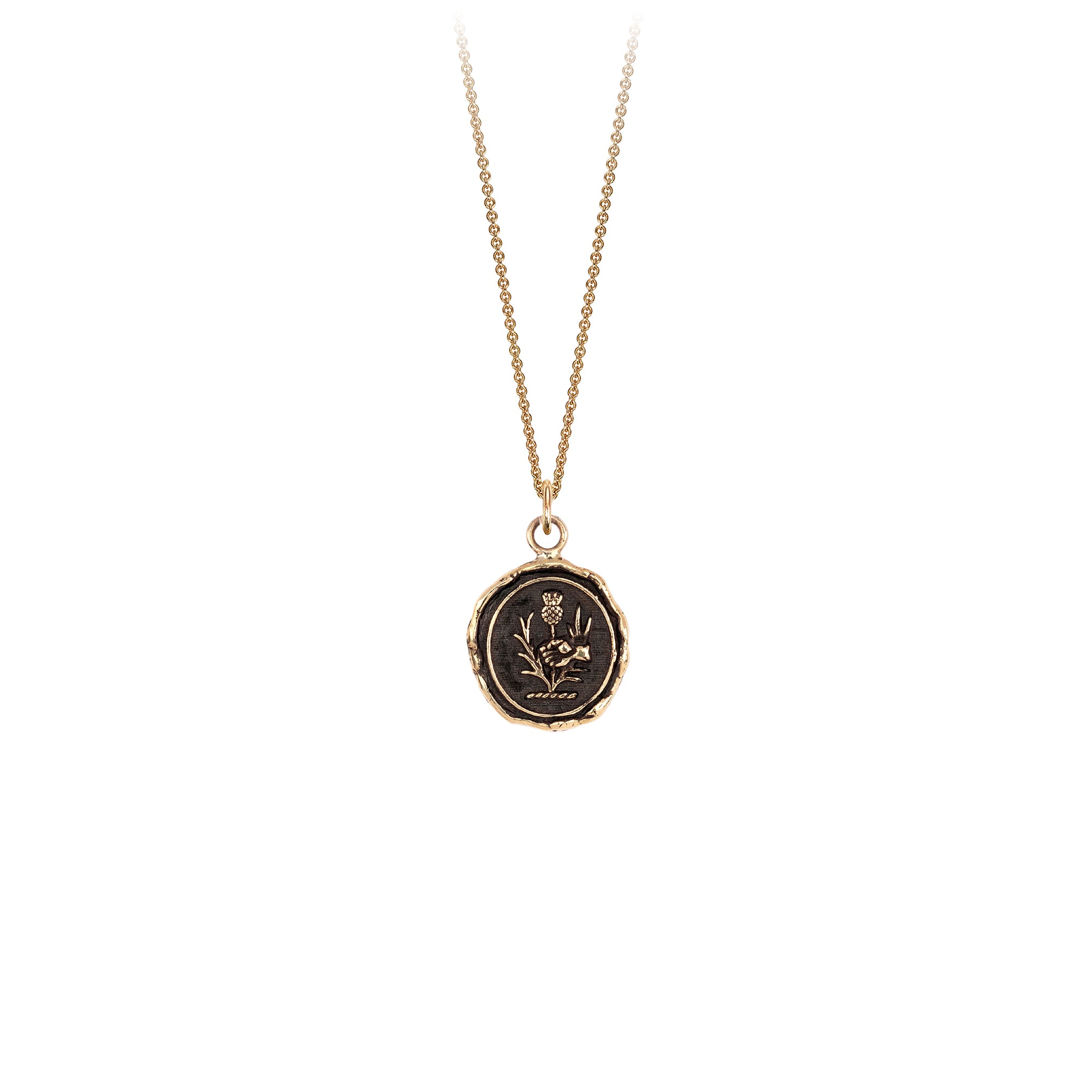 Pyrrha I Am Safe 14K Gold Talisman Necklace