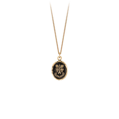 Pyrrha In Wine There Is Truth 14K Gold Talisman Necklace