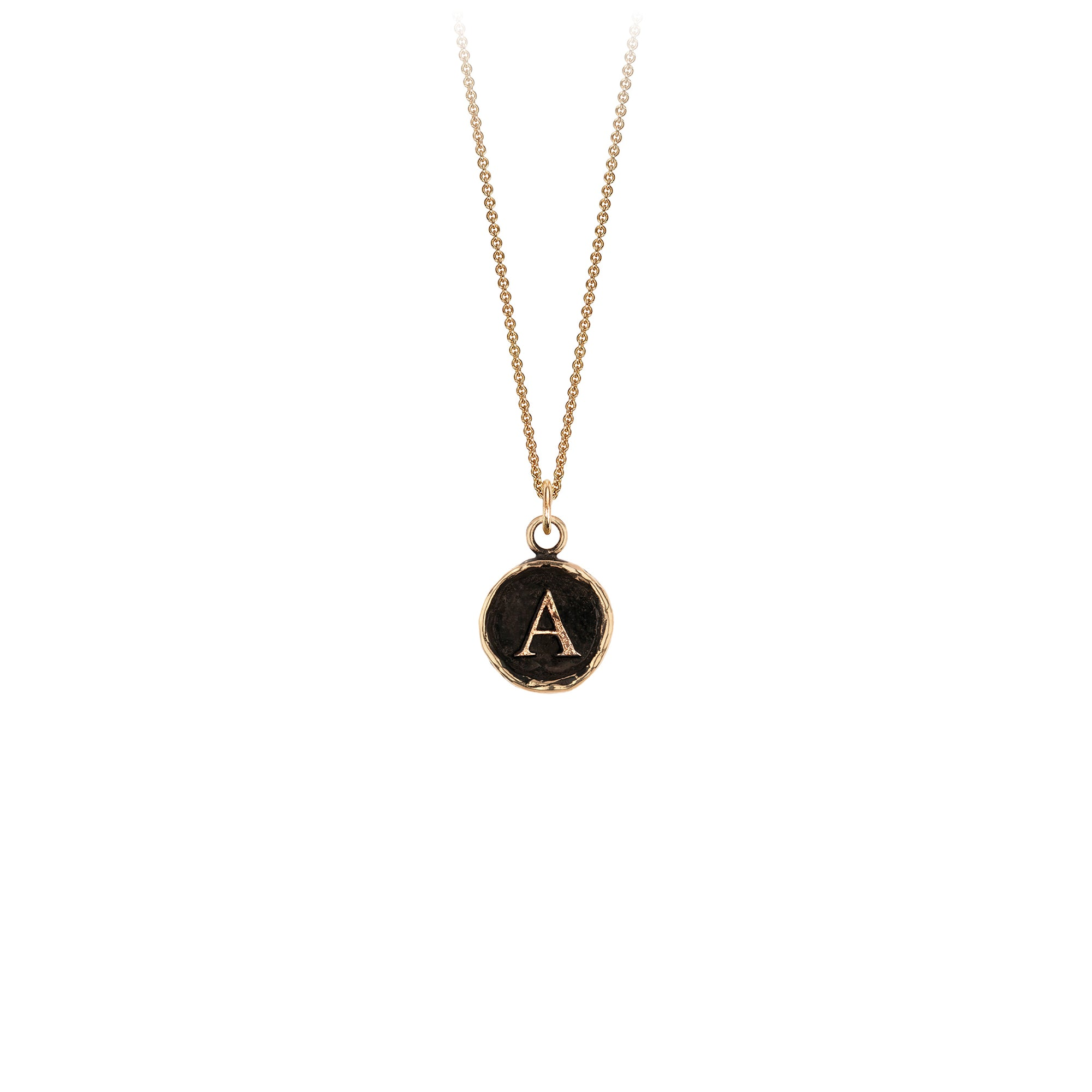 Pyrrha 14K Gold Initial A Talisman Necklace