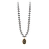 Pyrrha 14K Gold Integrity Dove Grey Freshwater Pearl Talisman Necklace