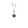 Pyrrha Large Sapphire 14K Gold Faceted Stone Necklace