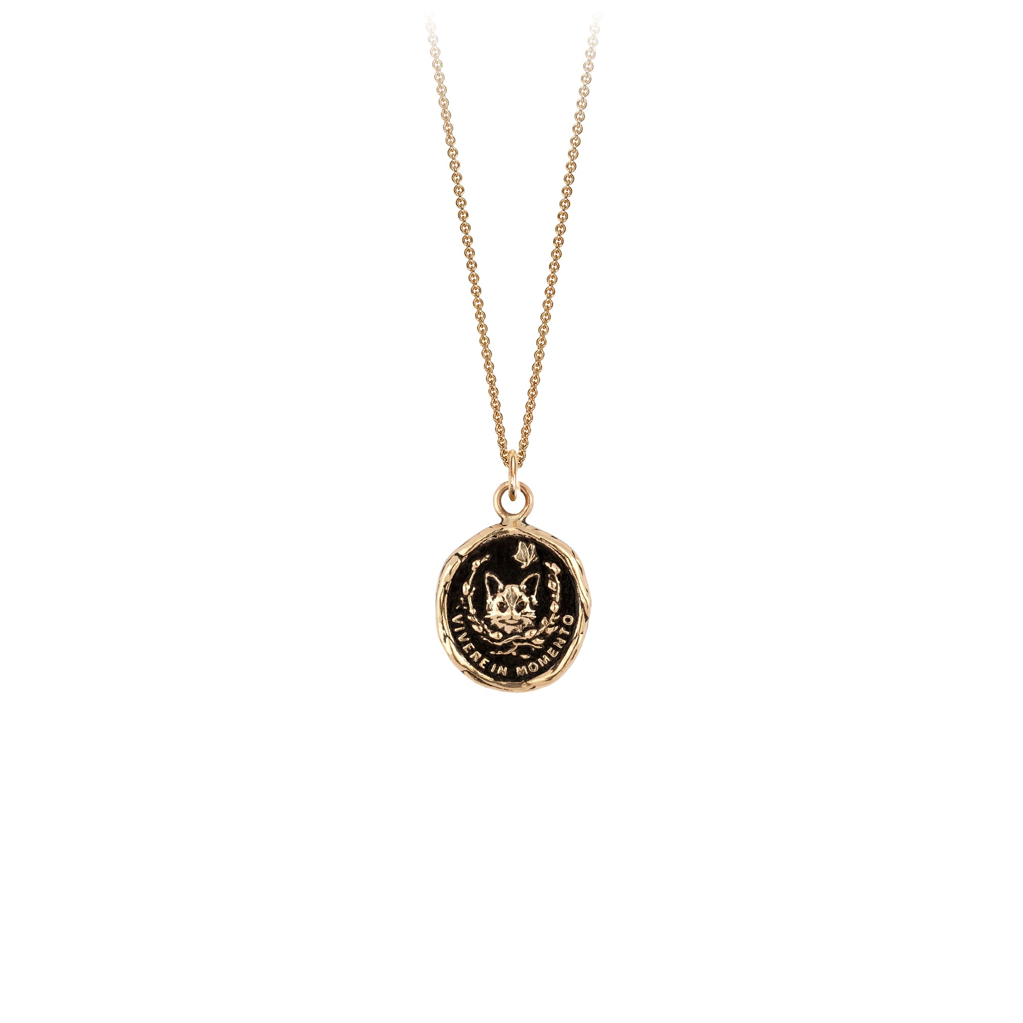 Live in the Moment 14K Gold Talisman