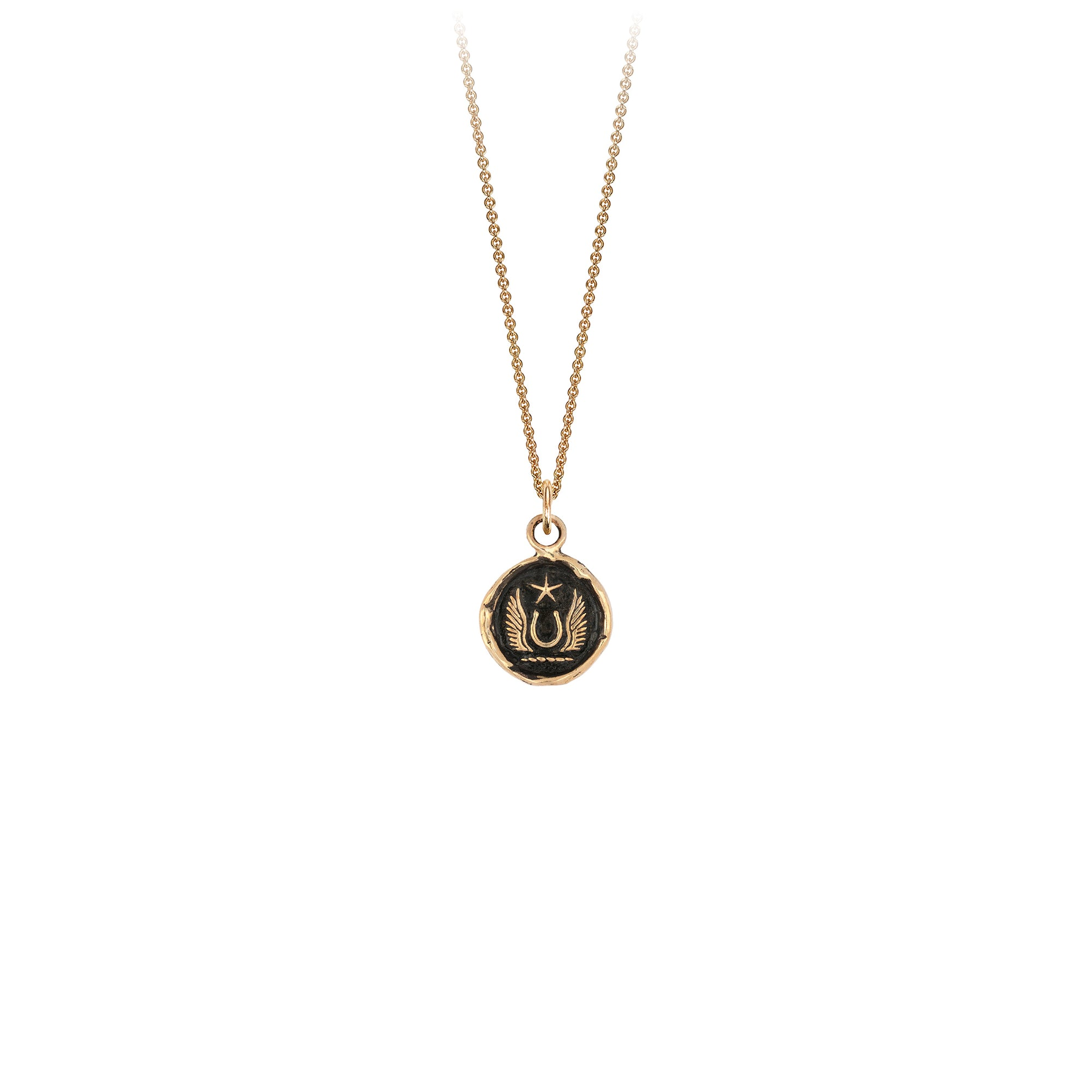Pyrrha 14K Gold Luck and Protection Talisman Necklace
