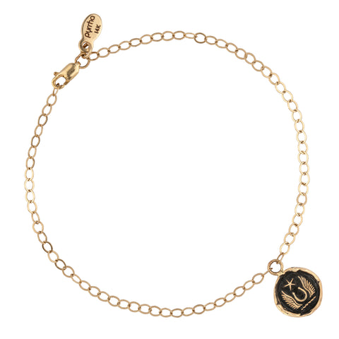 Luck & Protection 14K Gold Talisman Chain Bracelet