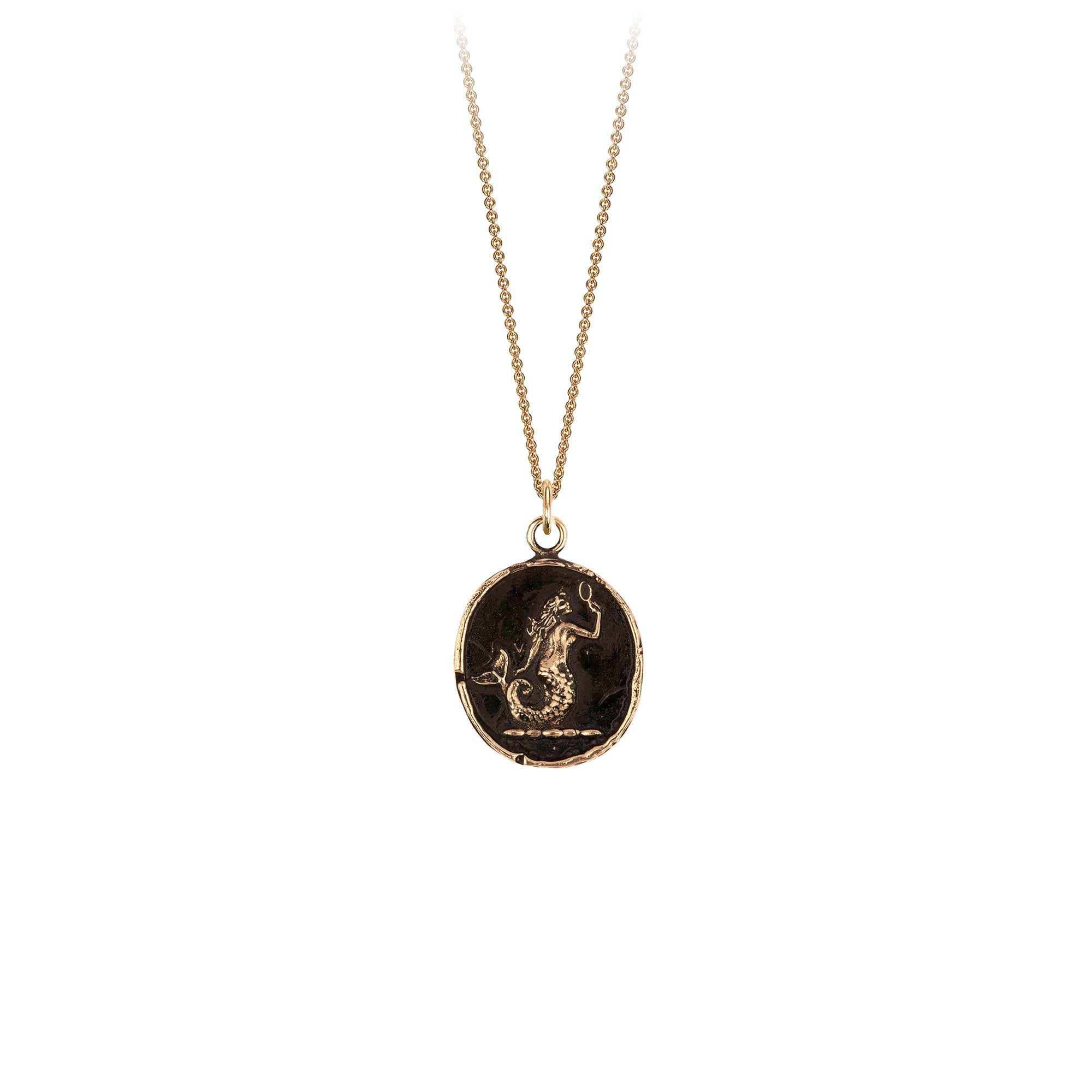 Pyrrha 14K Gold Mermaid Talisman Necklace