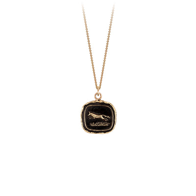 Pyrrha 14K Gold Pathfinder Talisman Necklace