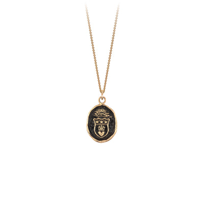 Pyrrha 14K Gold Power of Intention Talisman Necklace