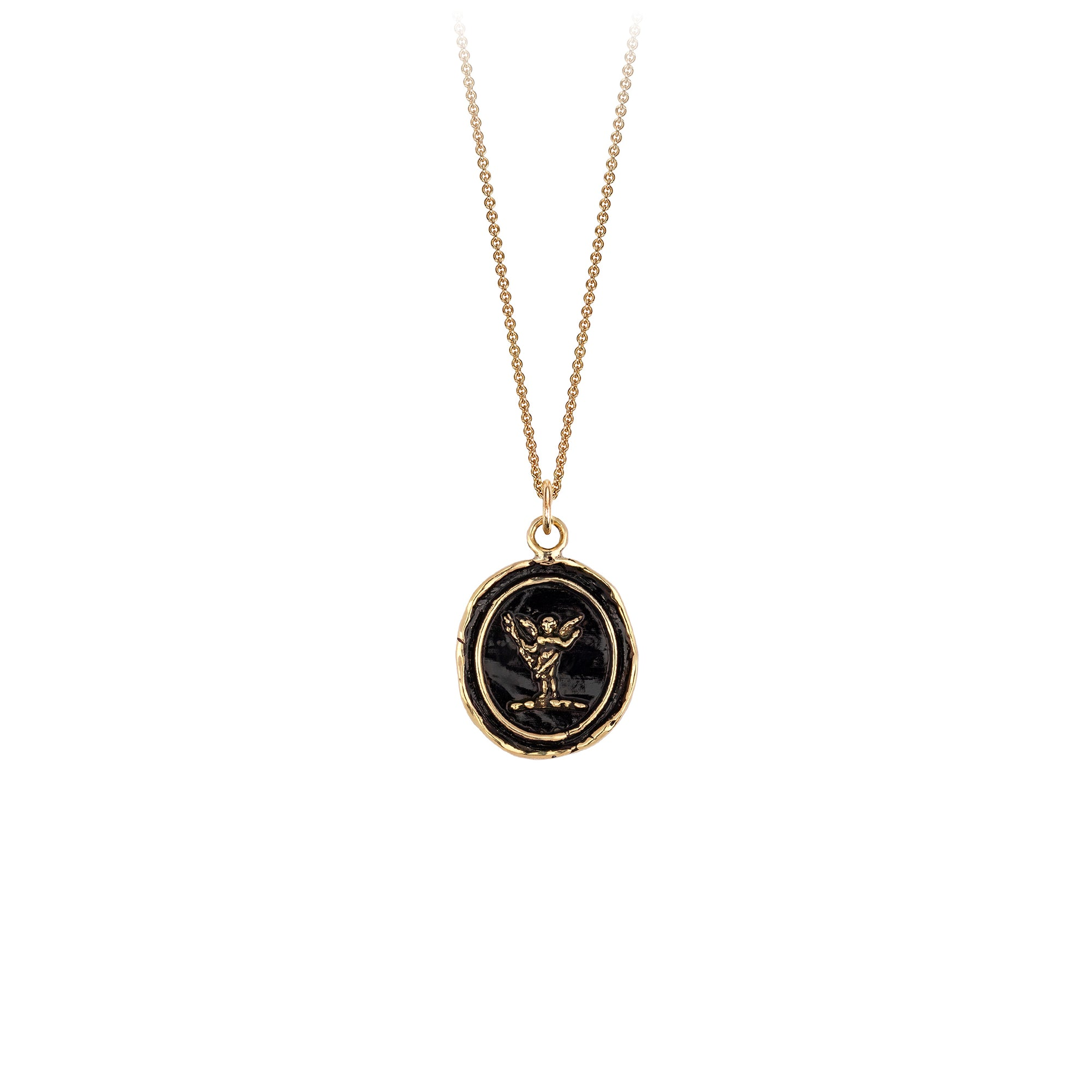 Pyrrha 14K Gold Power of Love Talisman Necklace