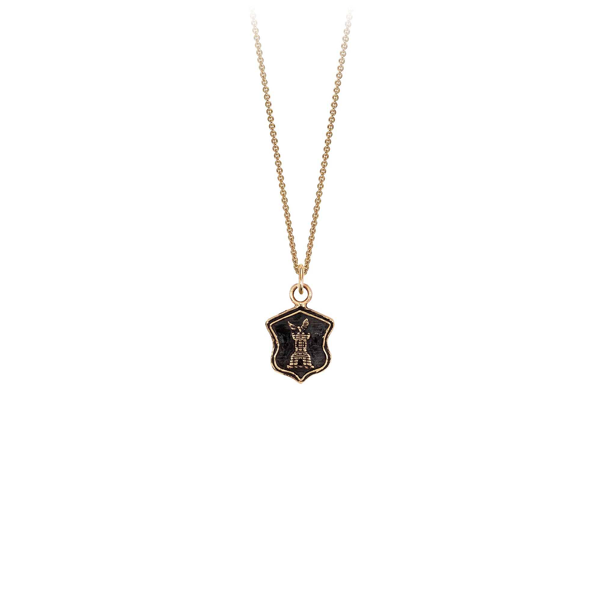 Pyrrha 14K Gold Safe Haven Talisman Necklace