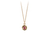 Pyrrha Small Ruby 14K Gold Faceted Stone Necklace