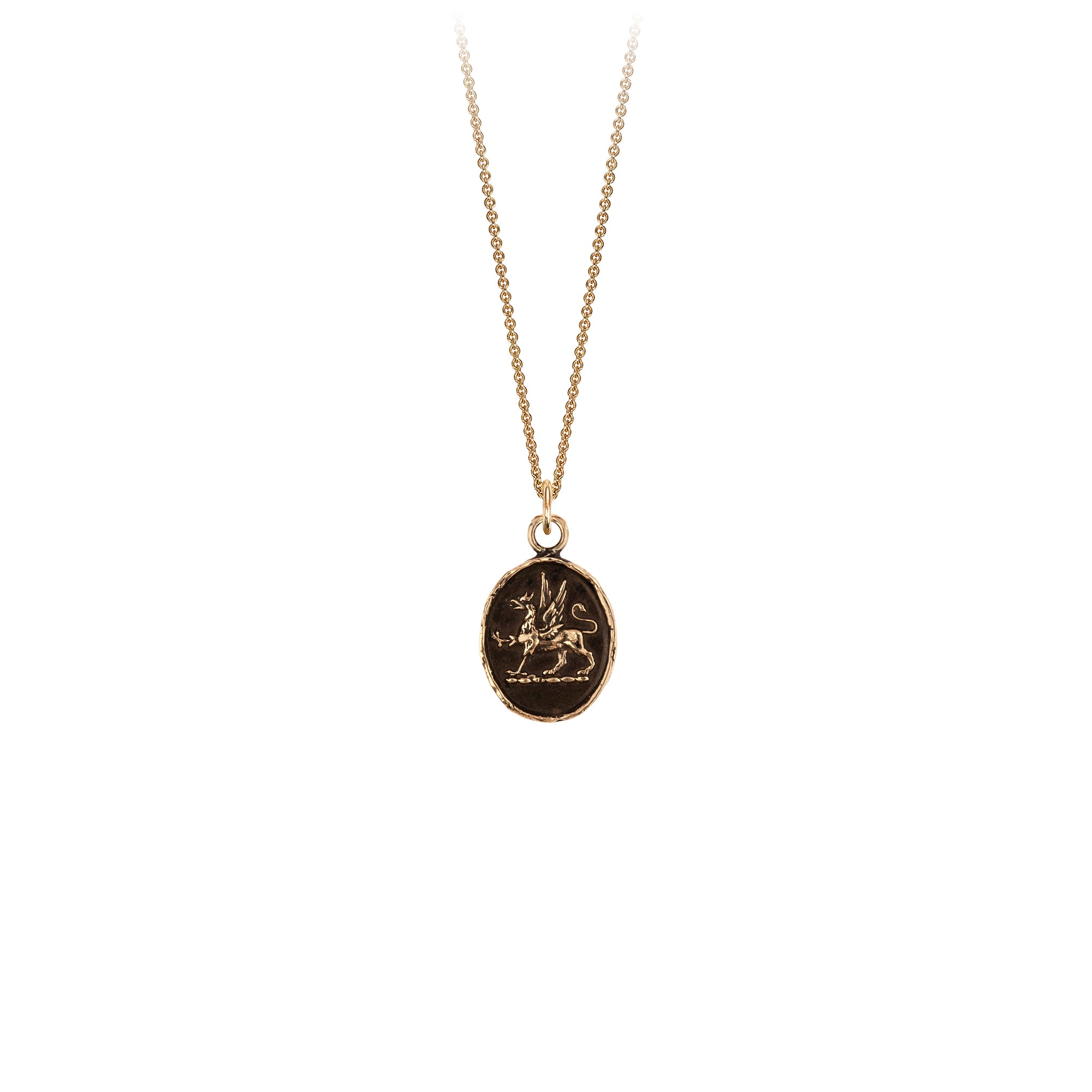 Pyrrha 14K Gold Spirit Talisman Necklace