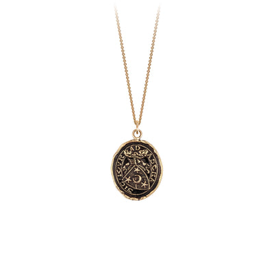 Pyrrha 14K Gold Stay True Talisman Necklace