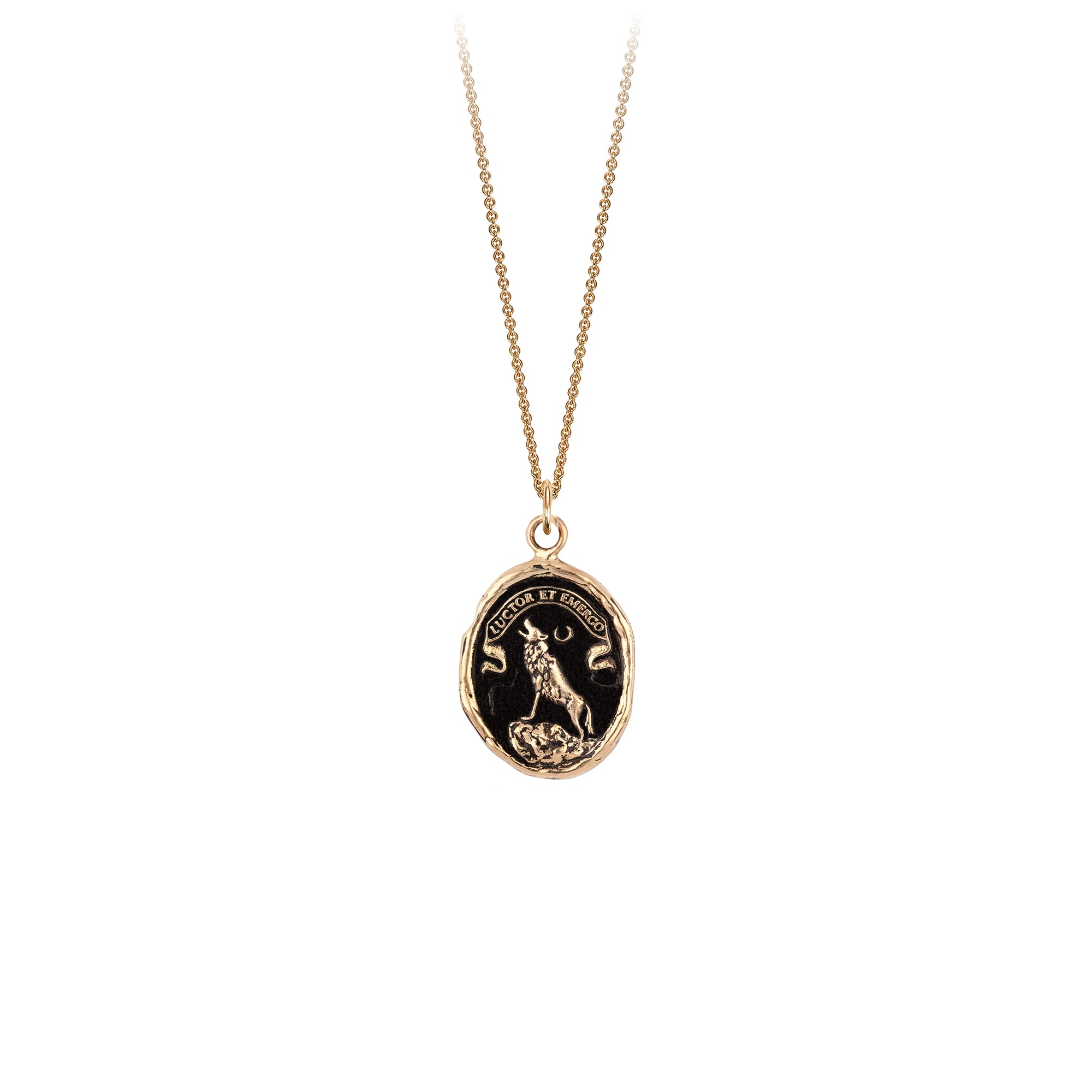 Struggle and Emerge 14K Gold Talisman