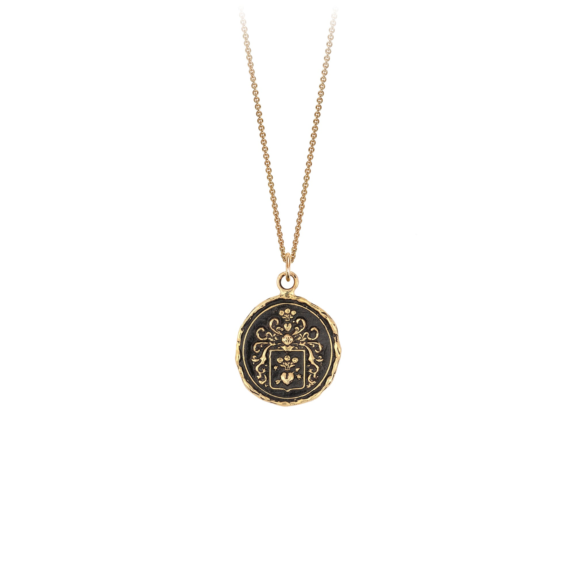 Pyrrha 14K Gold True Love Talisman Necklace