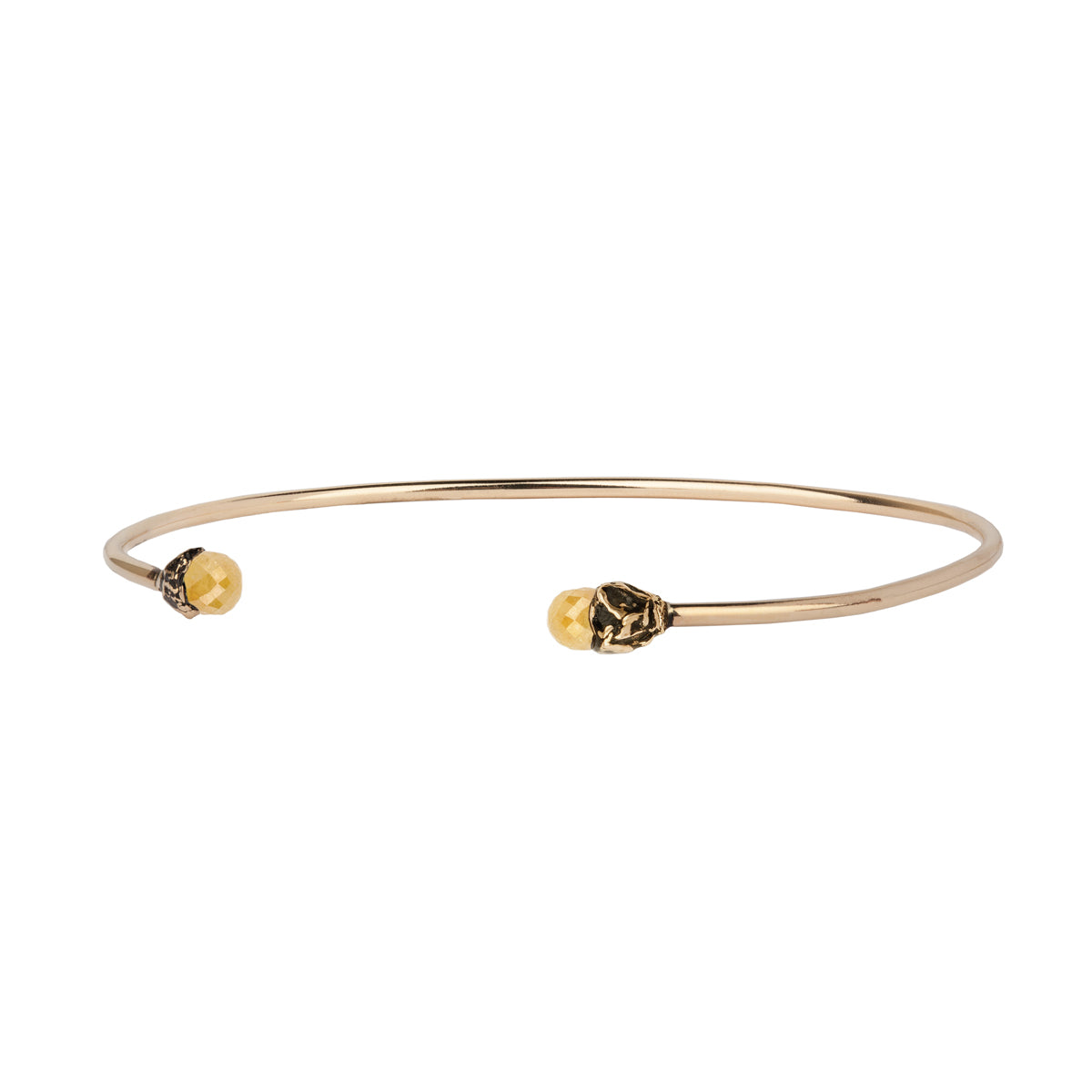 Golden Rustic Diamond 14K Gold Capped Open Bangle
