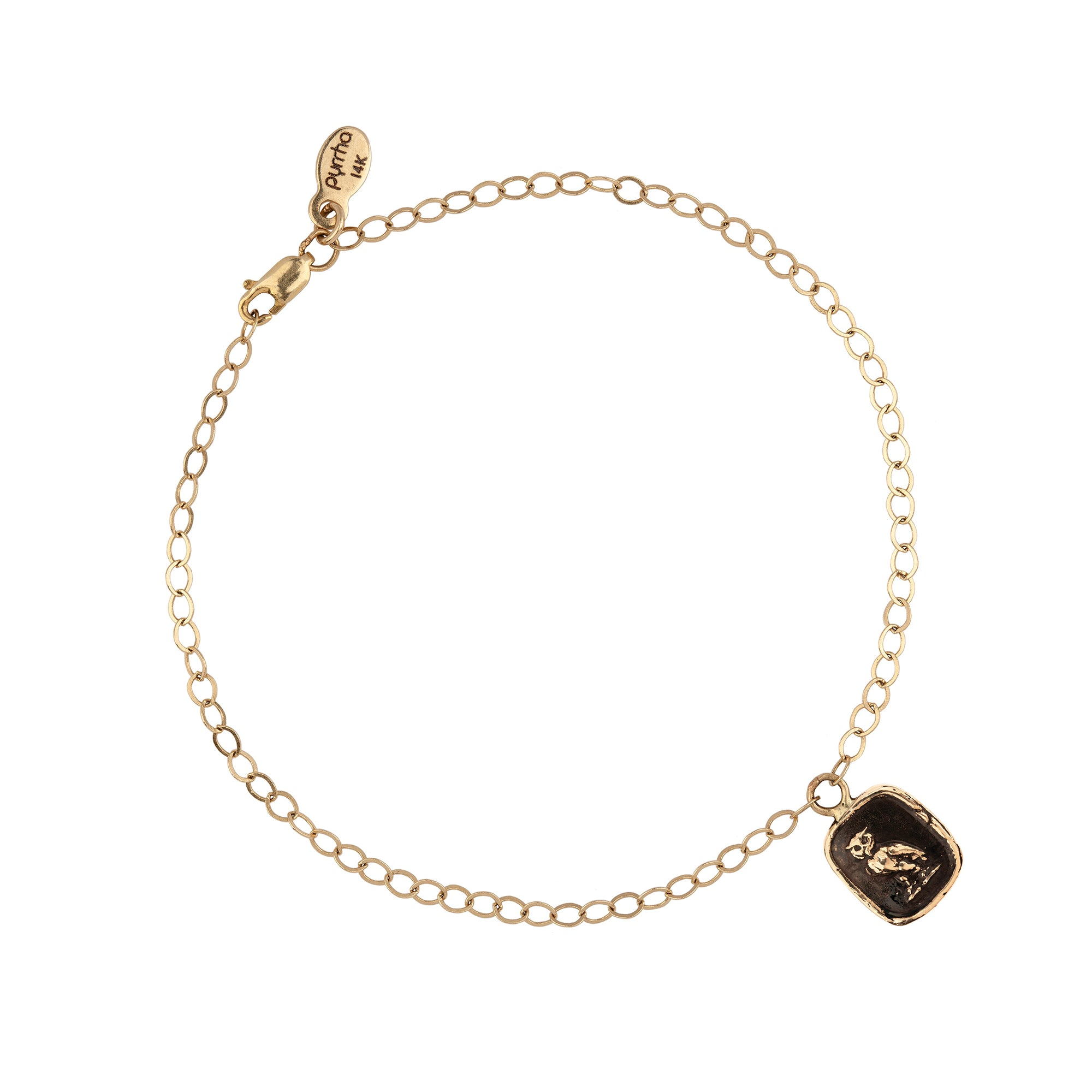 Watch Over Me 14K Gold Chain Bracelet