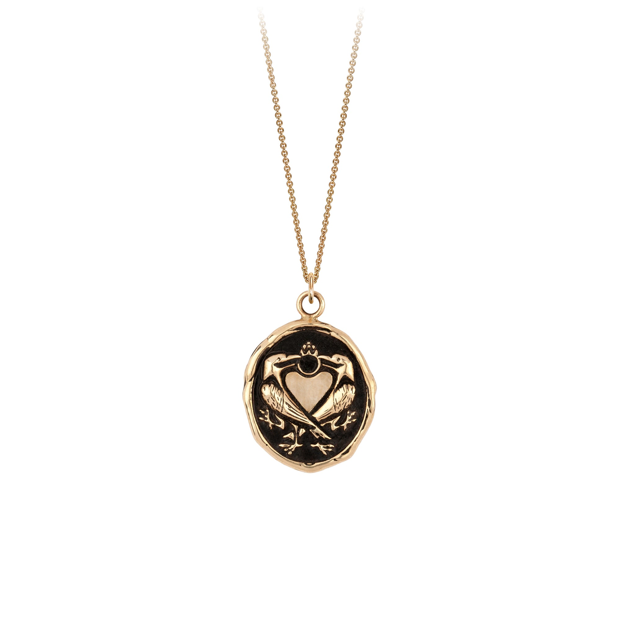 We Two Are One 14K Gold Engravable Talisman