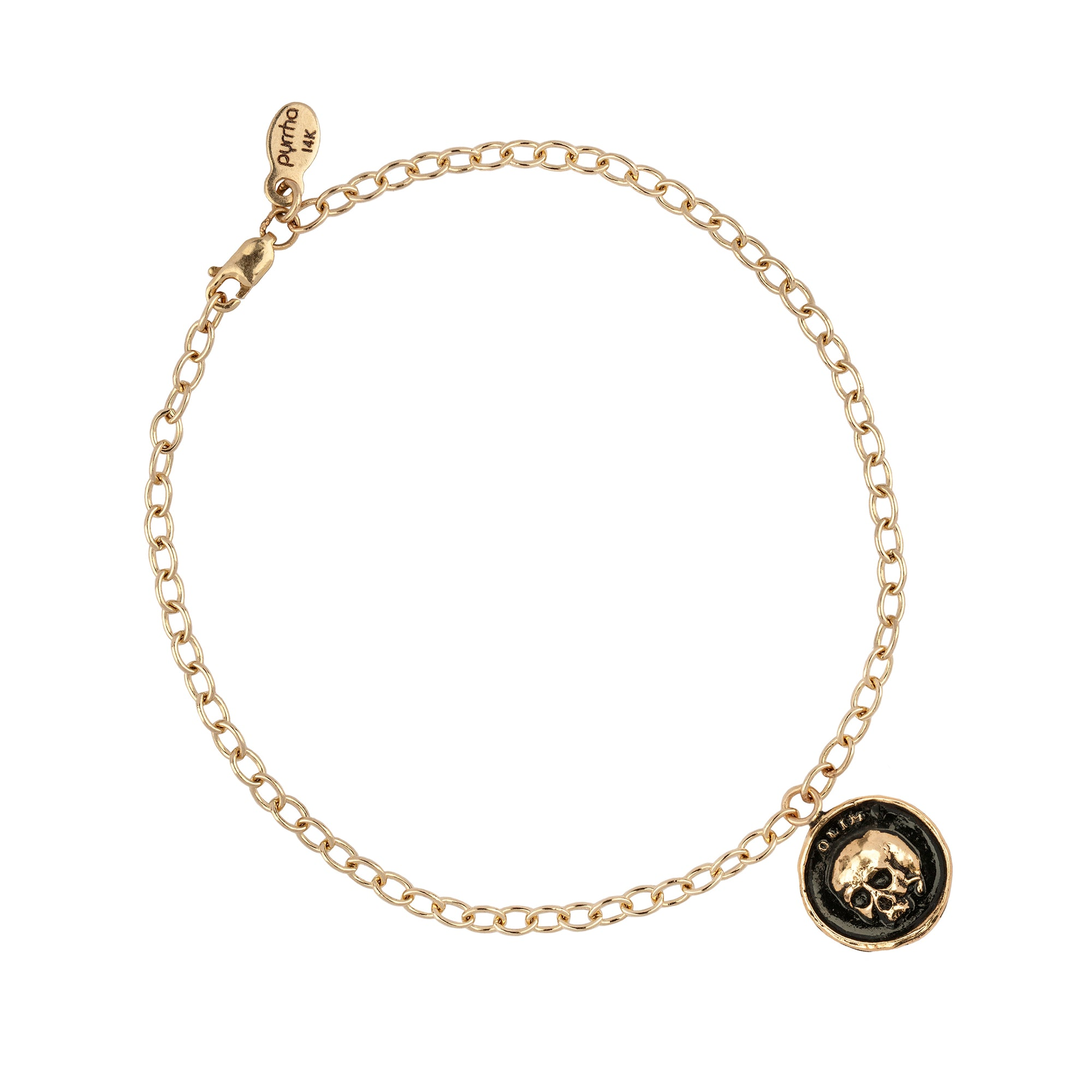 What One Was 14K Gold Chain Bracelet
