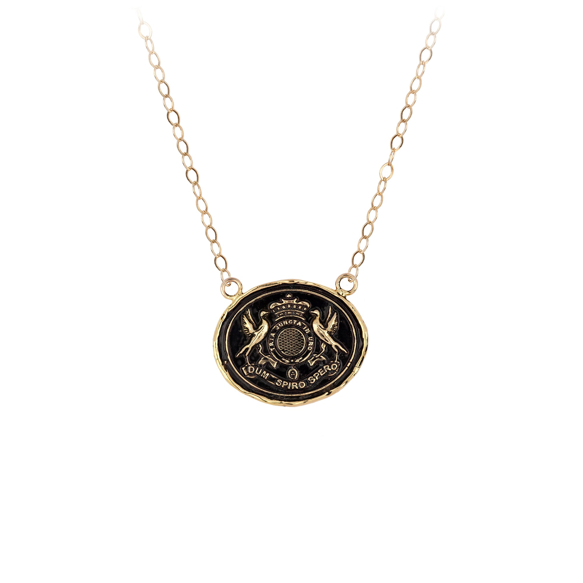 Pyrrha 14K Gold While I Breathe I Hope Talisman Necklace